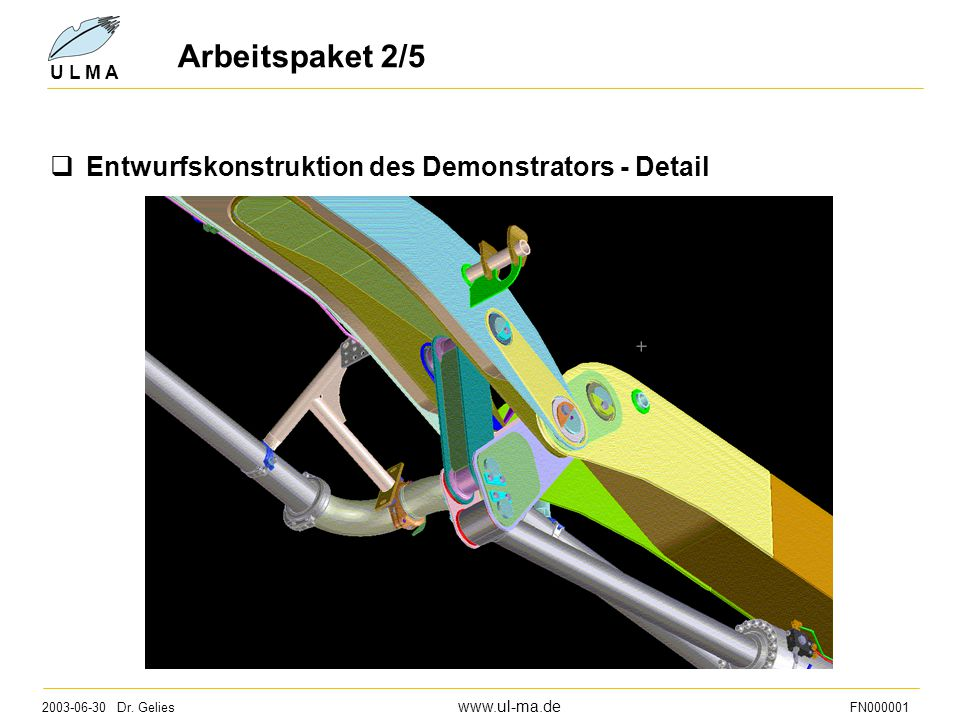 Arbeitspaket 2/5 Entwurfskonstruktion des Demonstrators - Detail