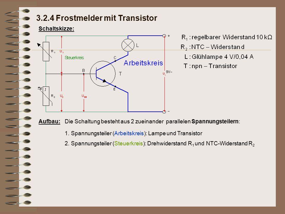 3.2.4 Frostmelder mit Transistor