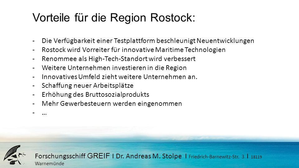 Vorteile für die Region Rostock: