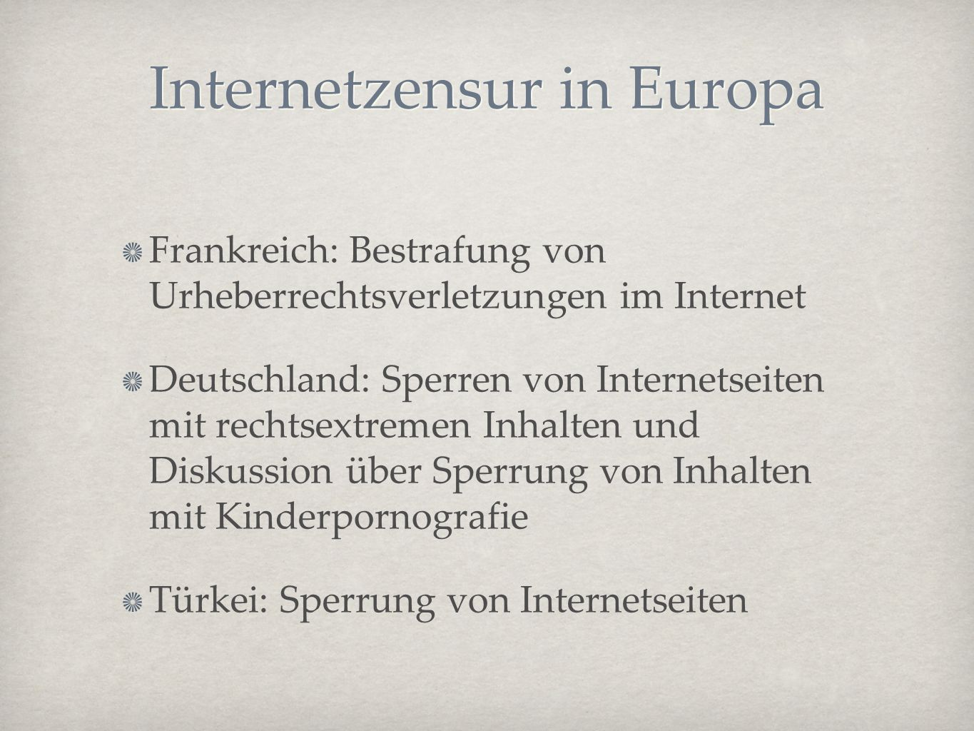 Internetzensur in Europa