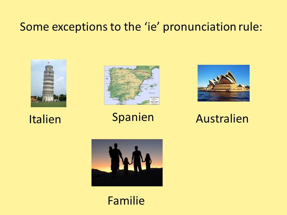 Some exceptions to the 'ie' pronunciation rule:
