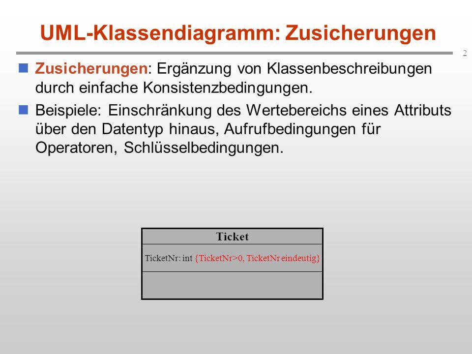 UML-Klassendiagramm: Zusicherungen