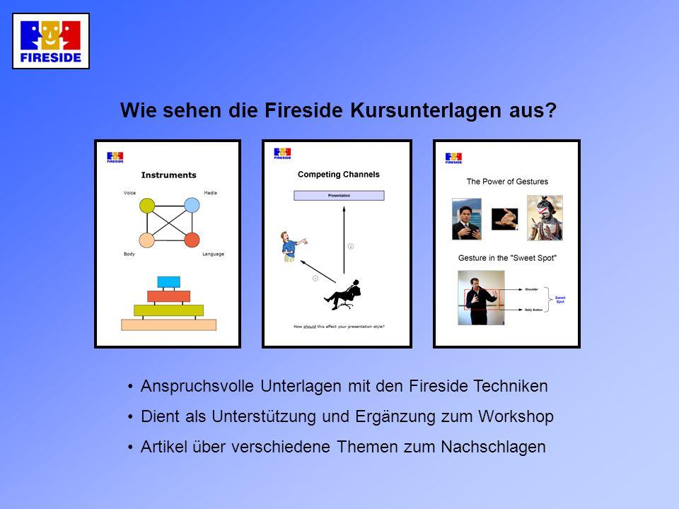 Wie sehen die Fireside Kursunterlagen aus