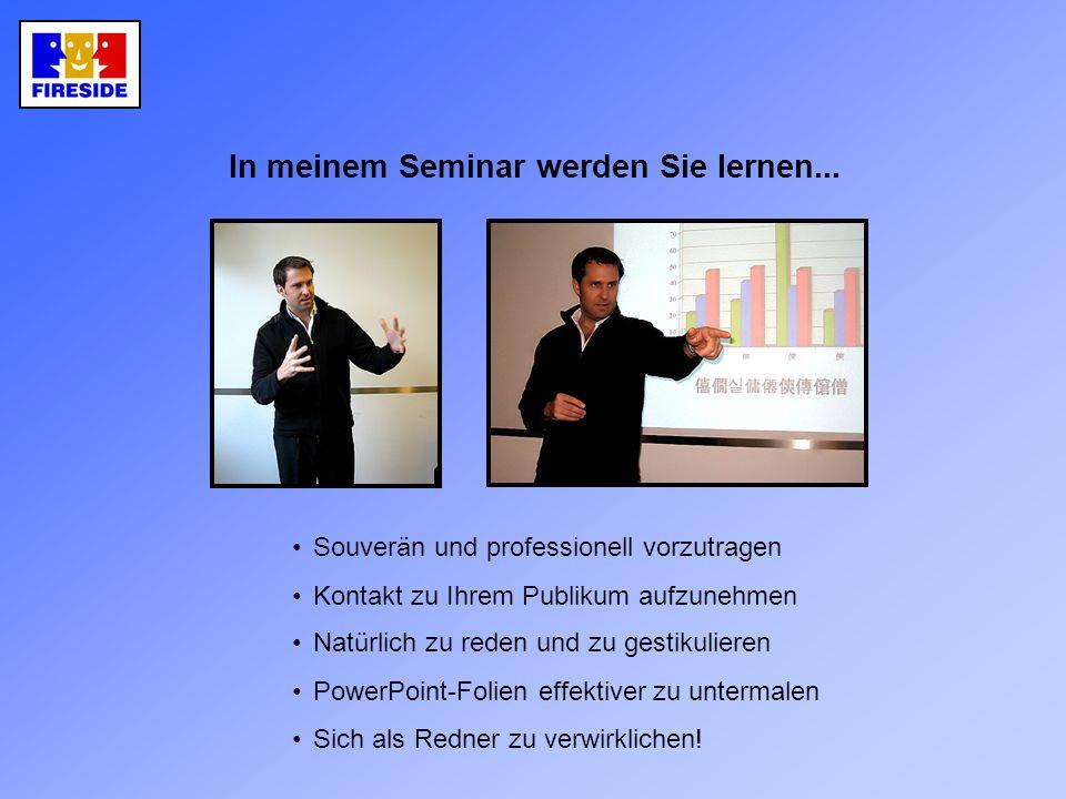 In meinem Seminar werden Sie lernen...