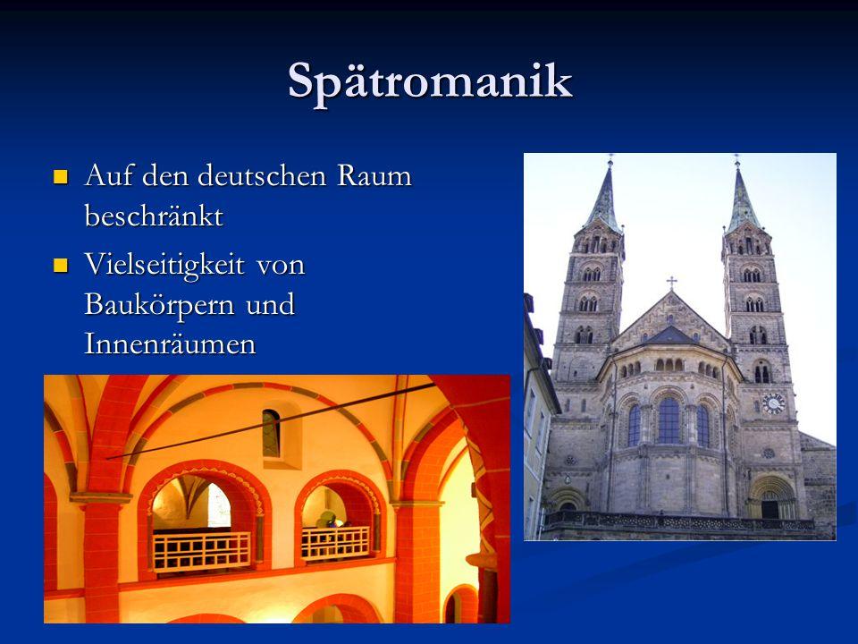 Spätromanik Auf den deutschen Raum beschränkt
