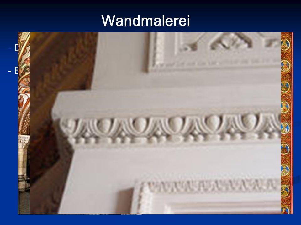 Wandmalerei - Dekoration (Ornamente, geometrische Muster)