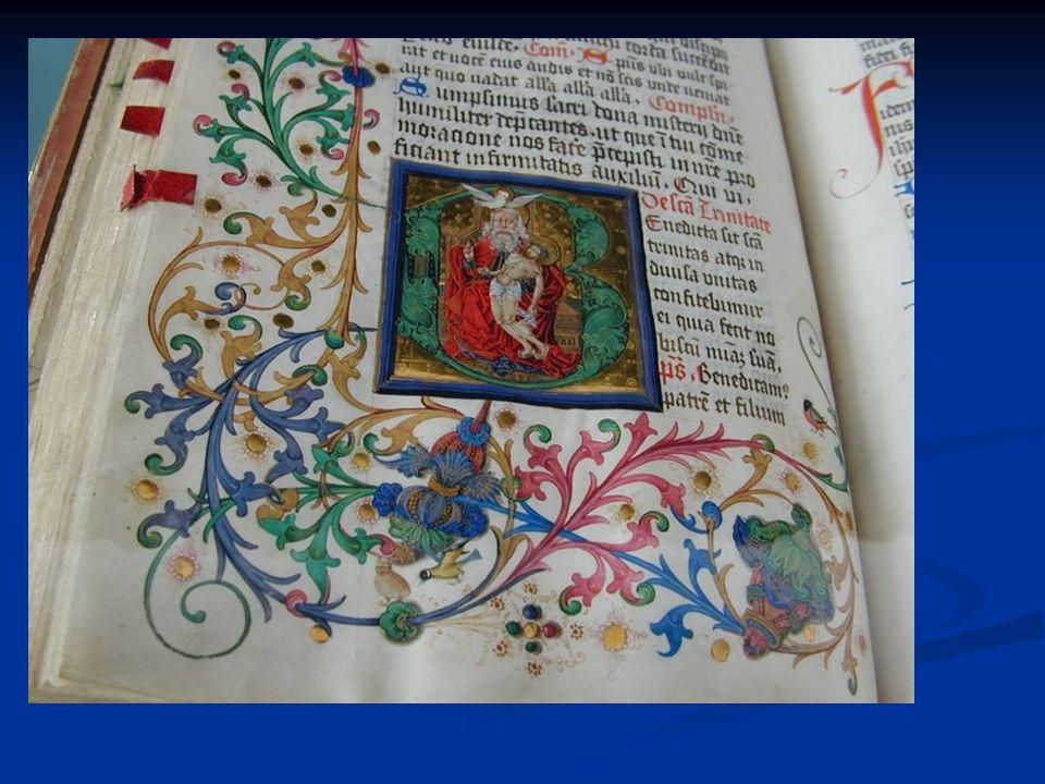 Buchmalerei - Initialen, Randmuster, Figurendarstellung - Symbolfarben