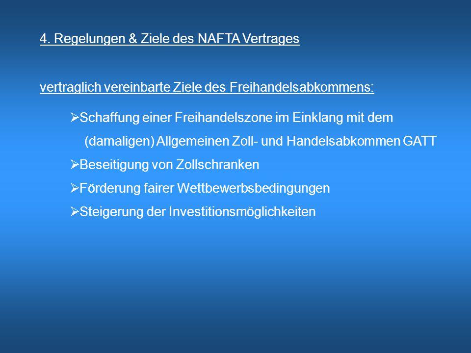4. Regelungen & Ziele des NAFTA Vertrages
