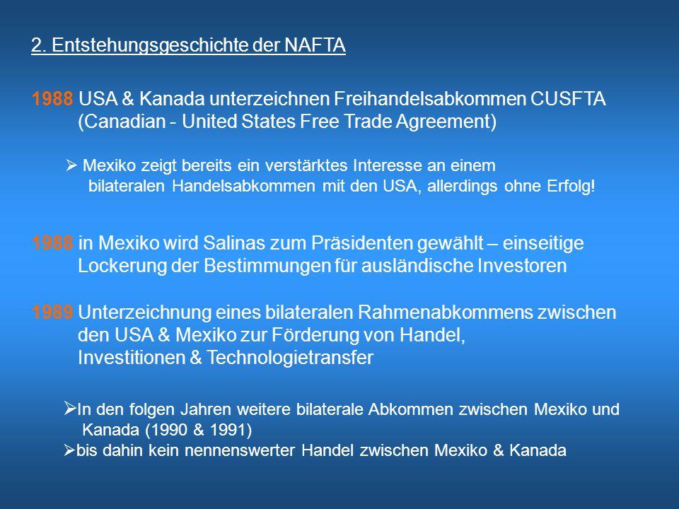 2. Entstehungsgeschichte der NAFTA
