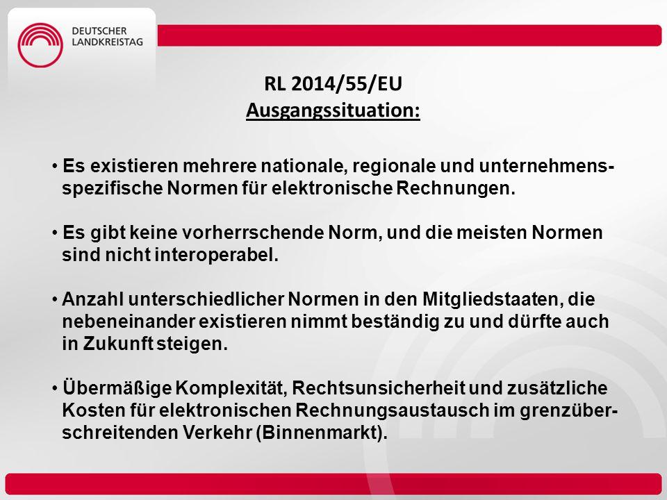 RL 2014/55/EU Ausgangssituation: