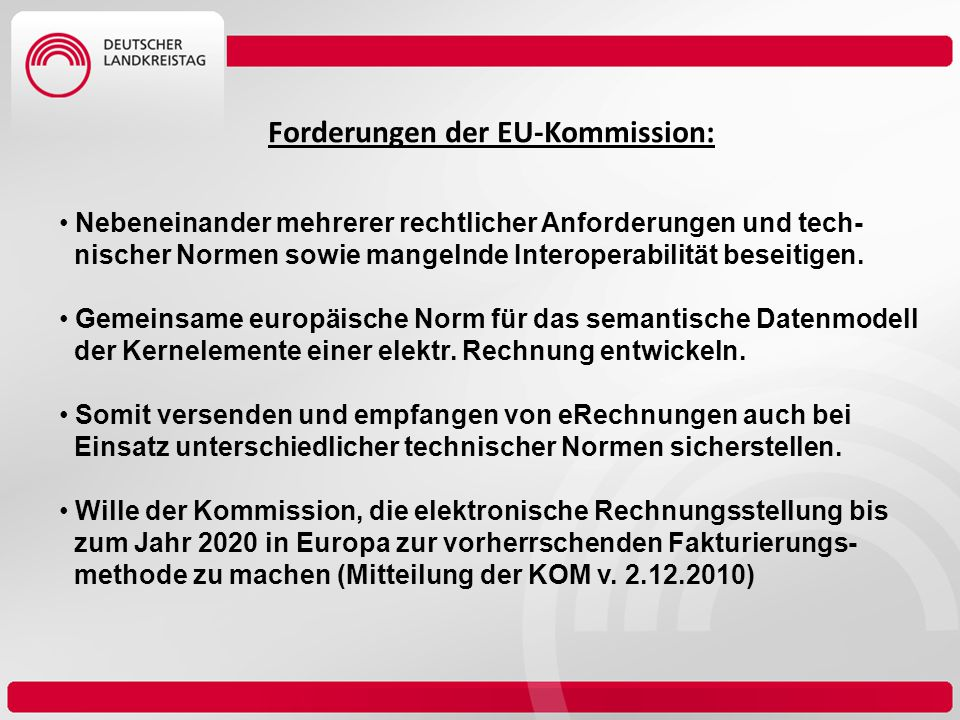 Forderungen der EU-Kommission: