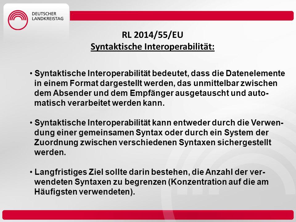 Syntaktische Interoperabilität: