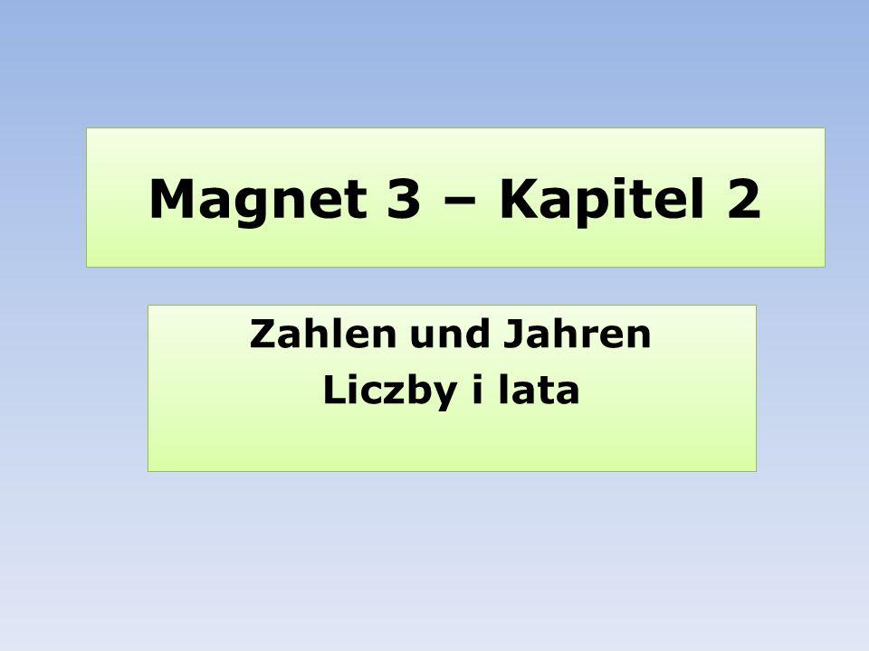 Zahlen und Jahren Liczby i lata