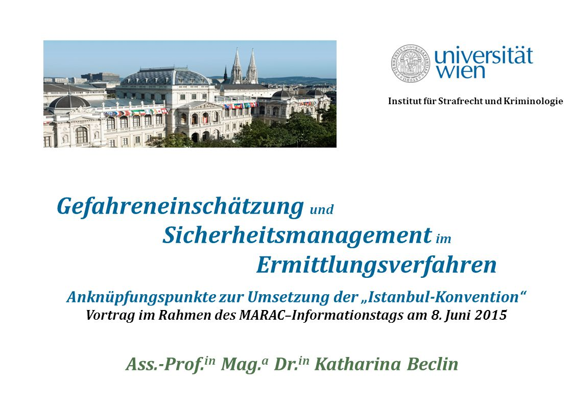 Ass.-Prof.in Mag.a Dr.in Katharina Beclin