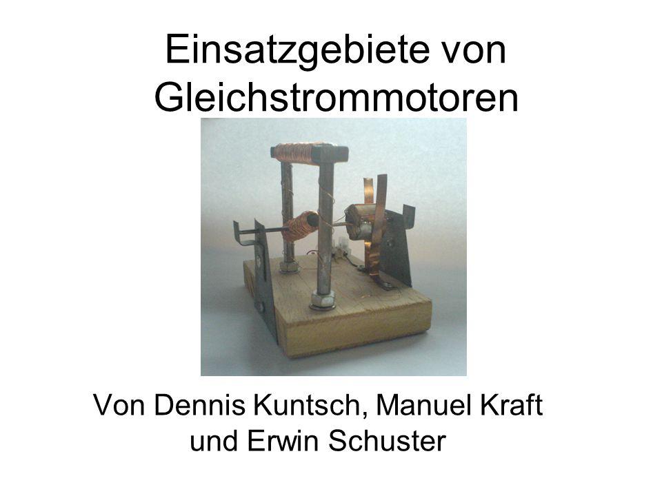 Einsatzgebiete von Gleichstrommotoren
