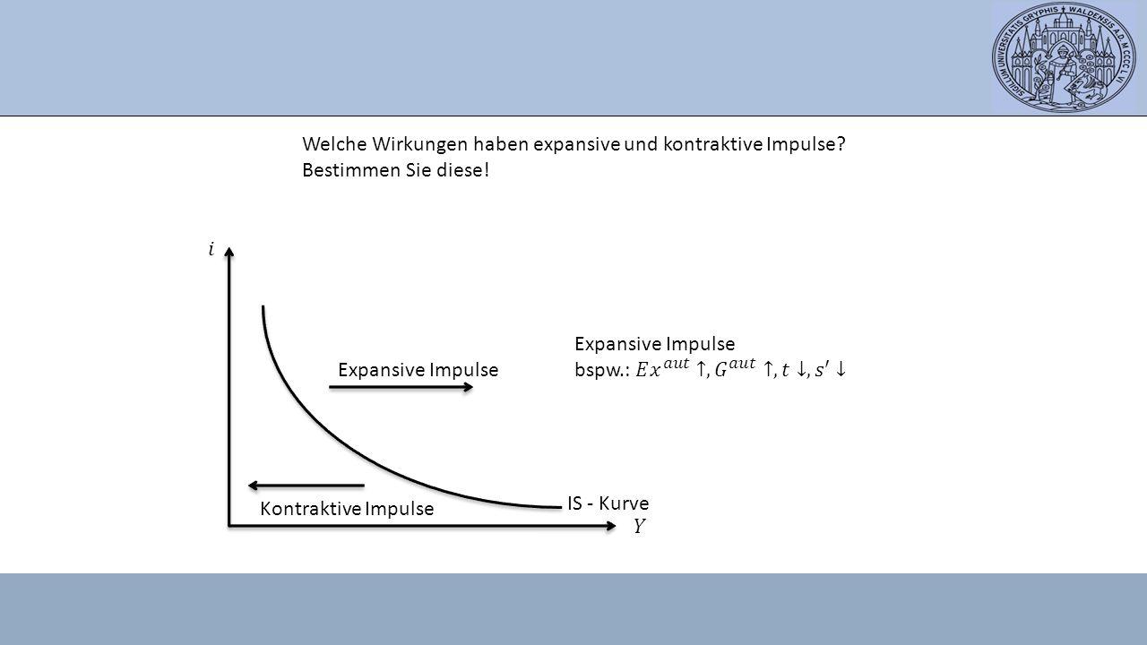 Welche Wirkungen haben expansive und kontraktive Impulse