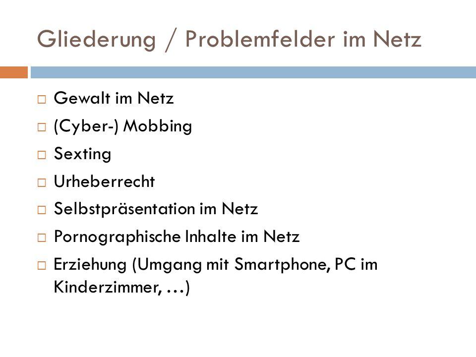 Gliederung / Problemfelder im Netz
