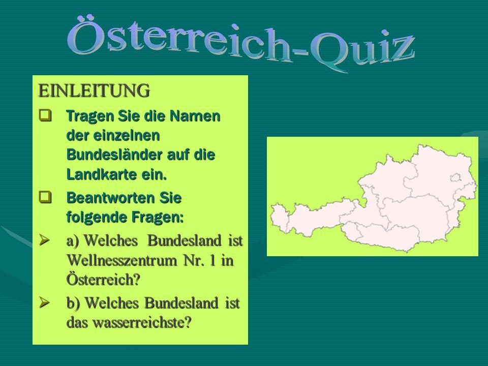 Österreich-Quiz EINLEITUNG