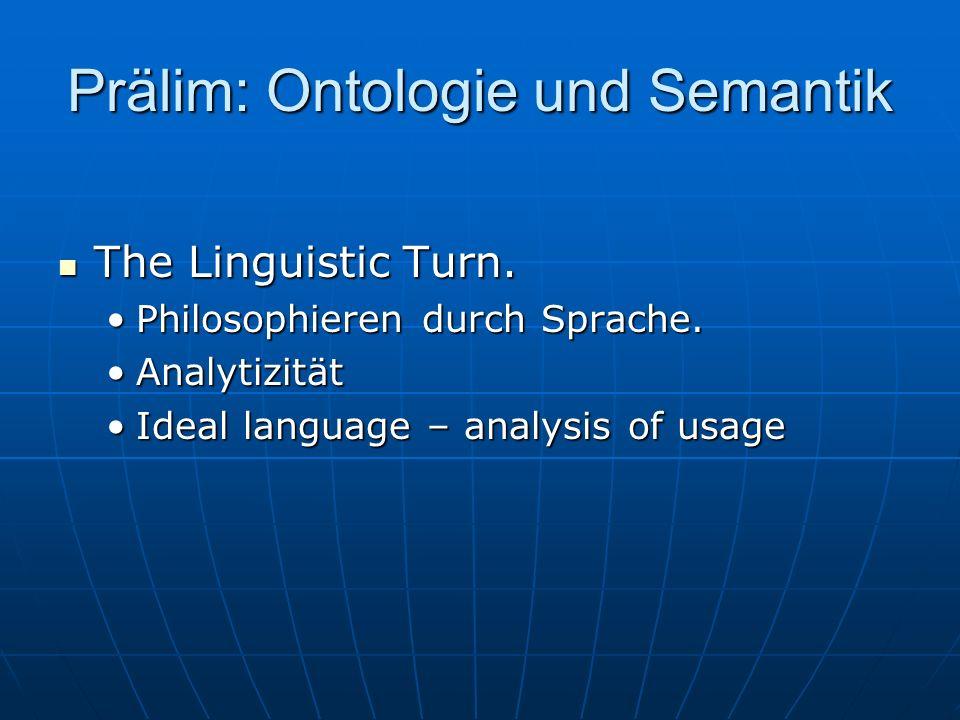 Prälim: Ontologie und Semantik