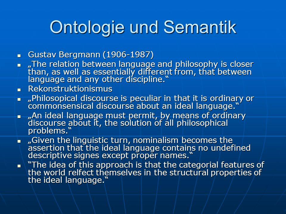 Ontologie und Semantik