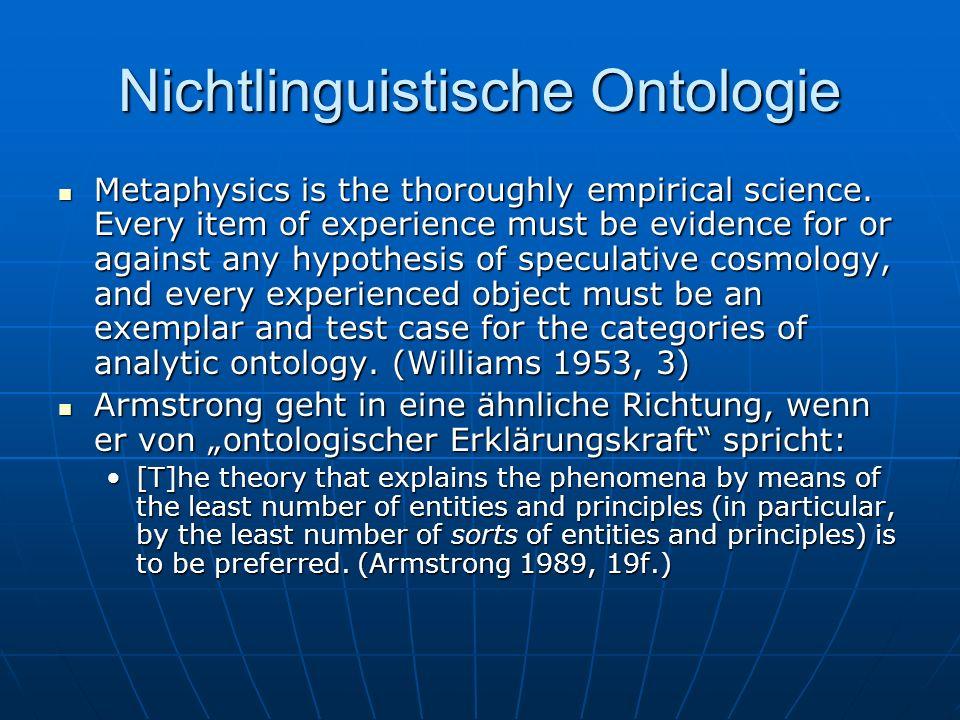 Nichtlinguistische Ontologie