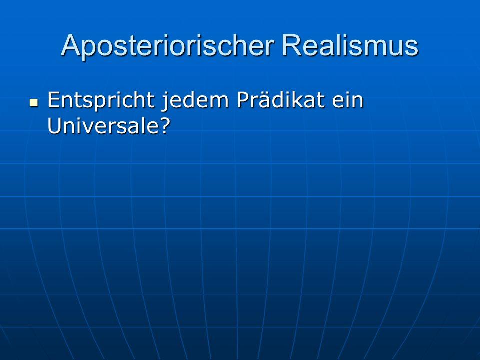 Aposteriorischer Realismus