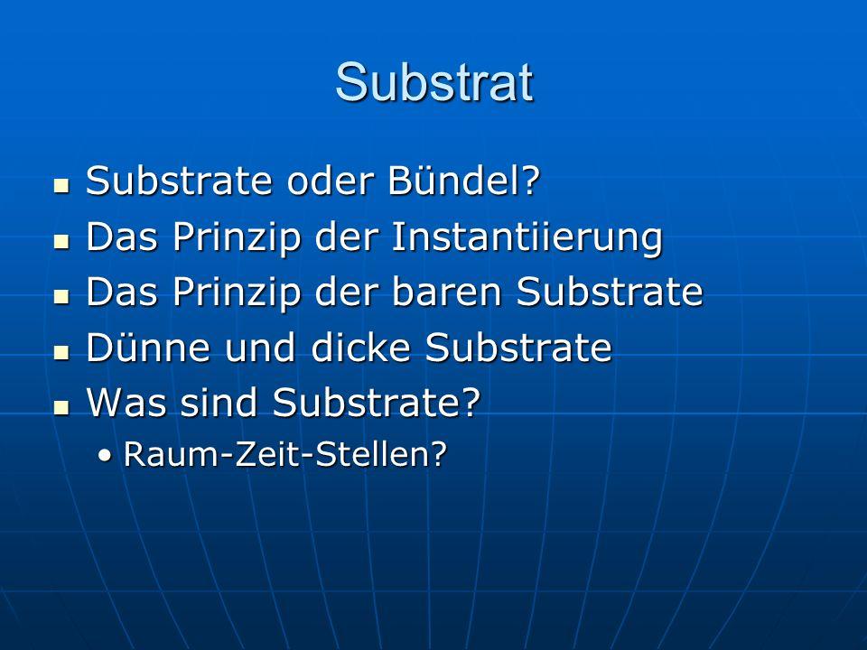 Substrat Substrate oder Bündel Das Prinzip der Instantiierung