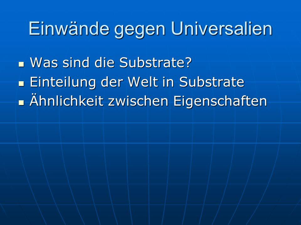 Einwände gegen Universalien