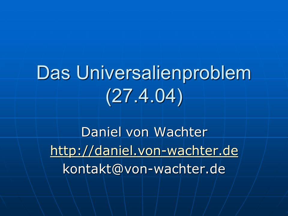 Das Universalienproblem (27.4.04)