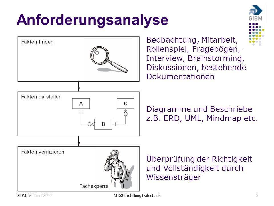 M153 Erstellung Datenbank