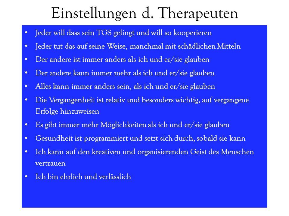 Einstellungen d. Therapeuten