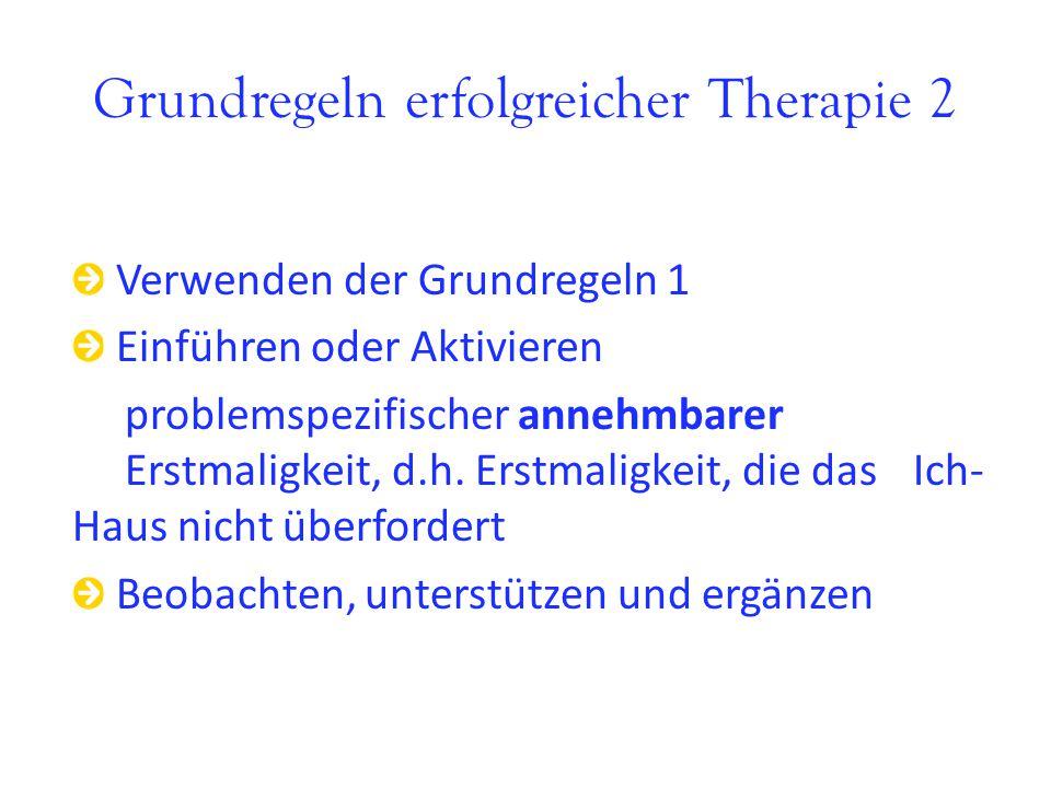 Grundregeln erfolgreicher Therapie 2