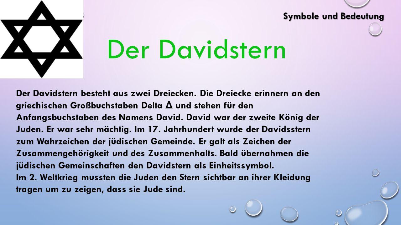 Der Davidstern Symbole und Bedeutung