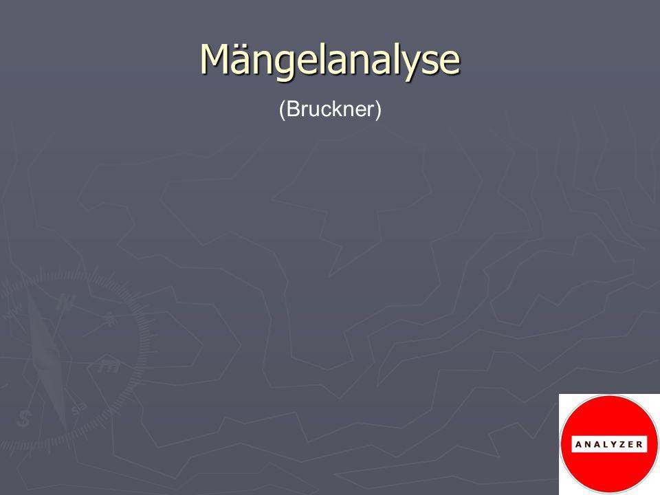 Mängelanalyse (Bruckner)
