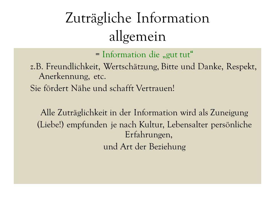 Zuträgliche Information allgemein