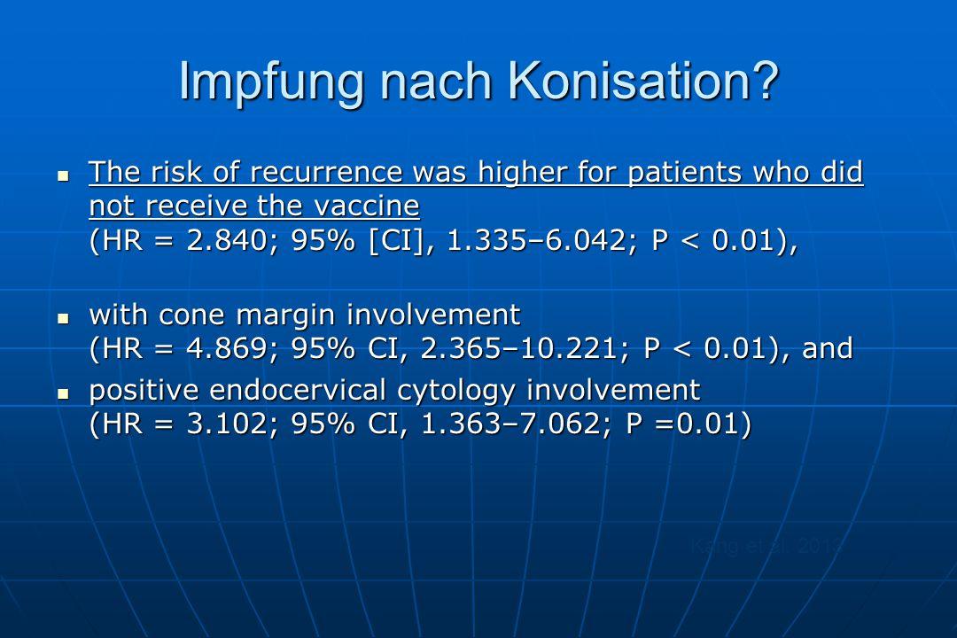Impfung nach Konisation