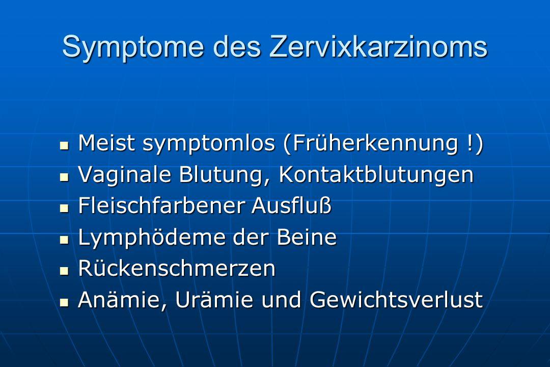 Symptome des Zervixkarzinoms