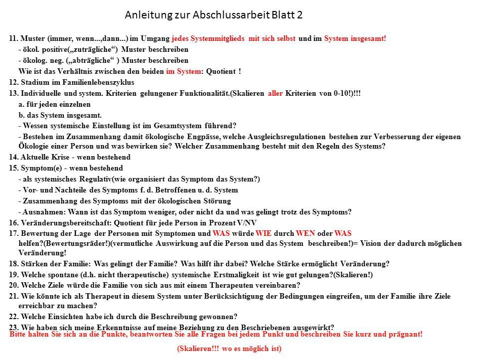 Anleitung zur Abschlussarbeit Blatt 2
