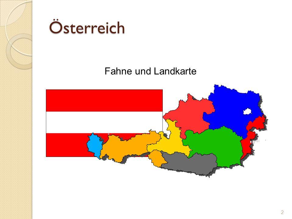Österreich Fahne und Landkarte