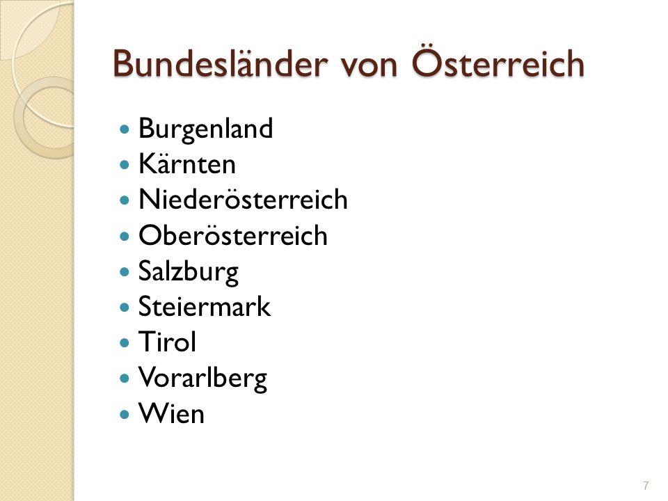 Bundesländer von Österreich