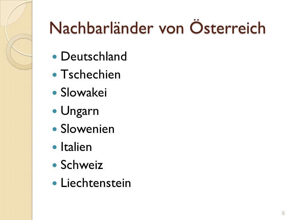 Nachbarländer von Österreich