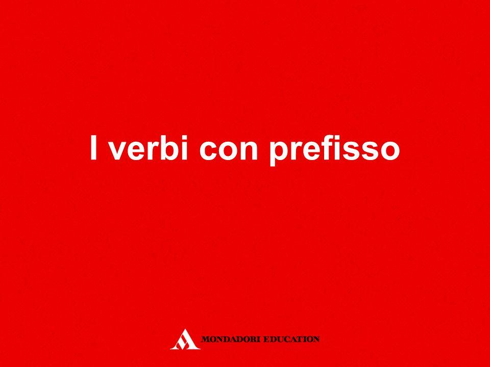 I verbi con prefisso