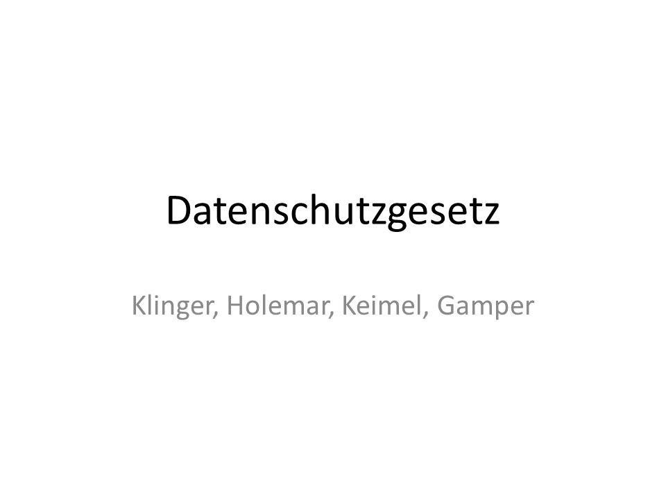 Klinger, Holemar, Keimel, Gamper
