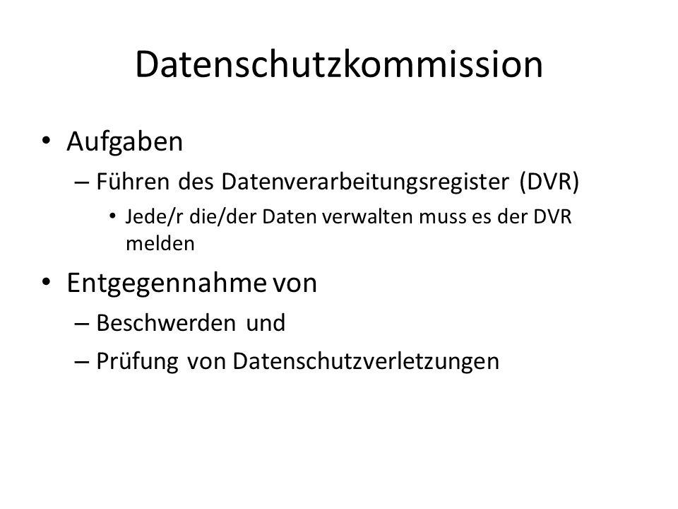 Datenschutzkommission