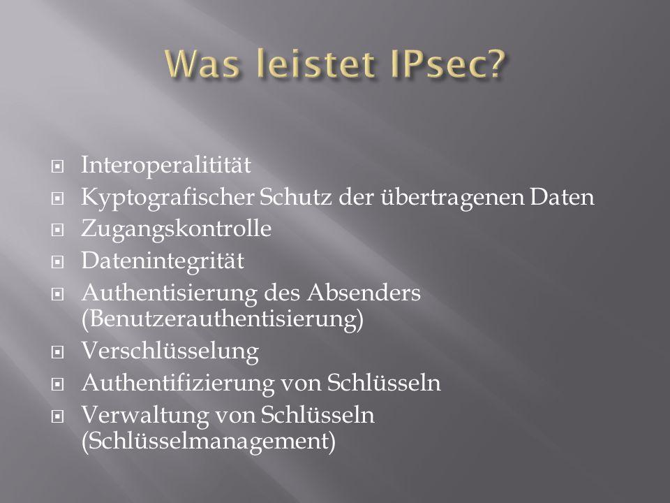 Was leistet IPsec Interoperalitität