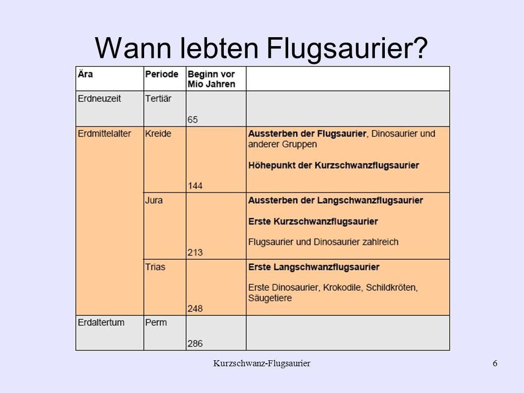 Wann lebten Flugsaurier