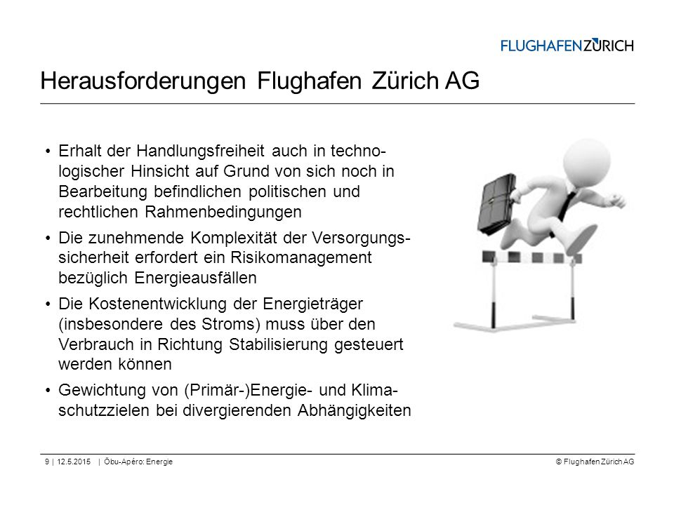 Herausforderungen Flughafen Zürich AG