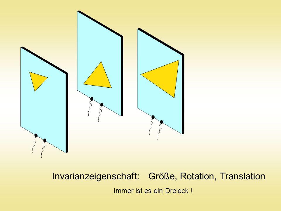Invarianzeigenschaft: Größe, Rotation, Translation