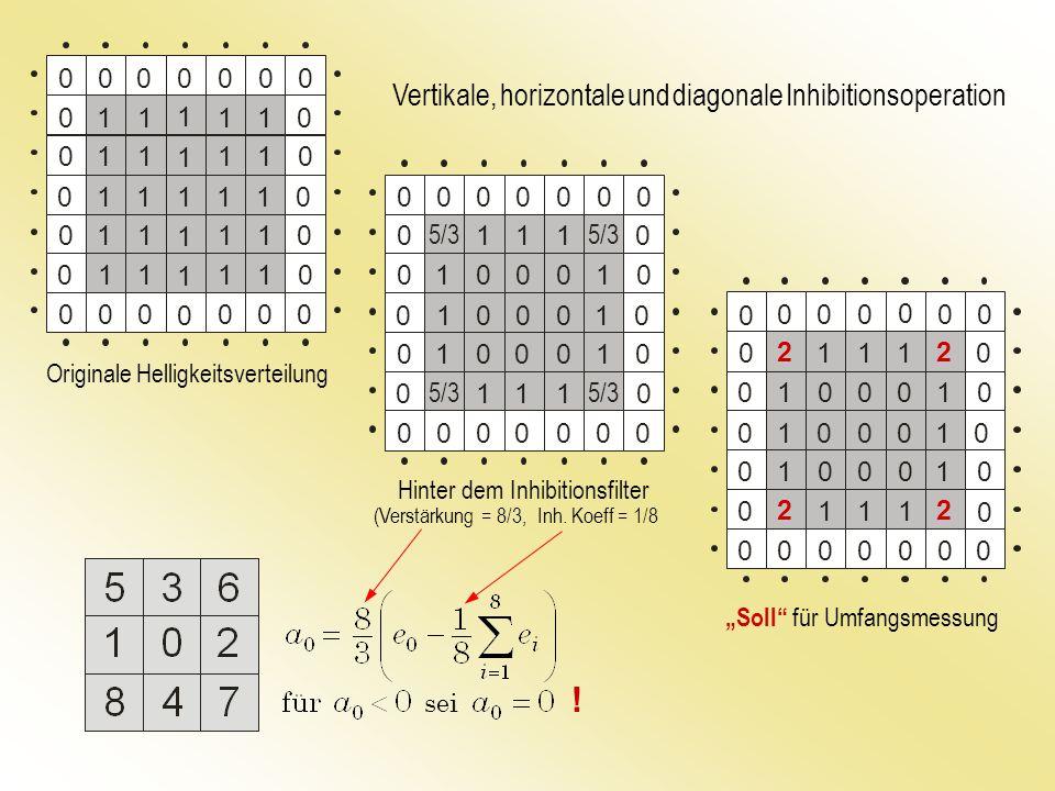 ! Vertikale, horizontale und diagonale Inhibitionsoperation 1 1 5/3 1