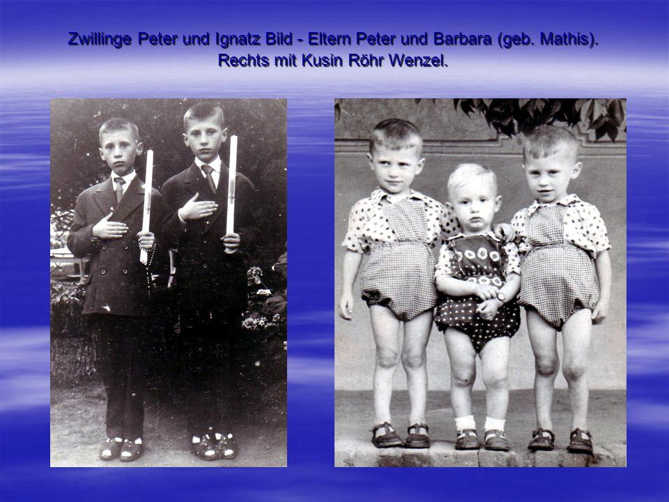 Zwillinge Peter und Ignatz Bild - Eltern Peter und Barbara (geb